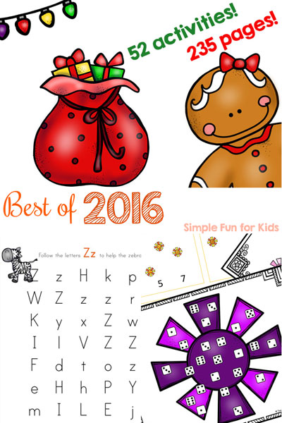With the start of 2017 comes a look back at 2016 with this Best of 2016 list on Simple Fun for Kids! The best new posts of the past year and my personal favorite are included! Printables for toddlers, preschoolers, and kindergarteners definitely won the popularity race in 2016.