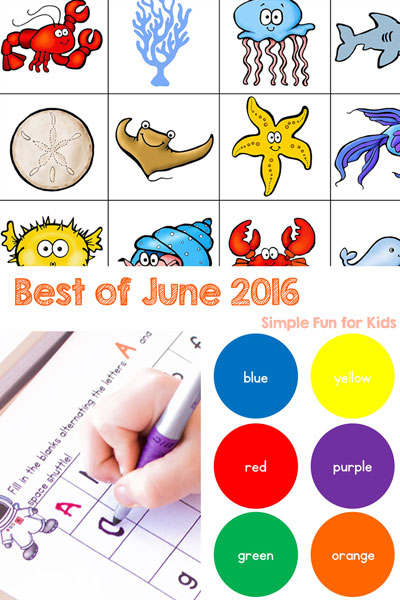Check out my monthly round-up of all posts from the past month, including the top 3 most popular new posts and my personal favorite! This is the Best of June 2016 on Simple Fun for Kids!