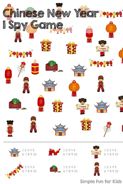 check out this cute chinese new year i spy game printable great for practicing counting - Chinese New Year For Kids
