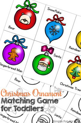 Day 17: Christmas Ornament Matching Game for Toddlers