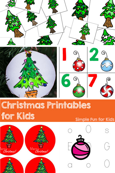 This is a huge educational resource! 50+ Christmas Printables for Kids, covering many literacy and math skills for toddlers, preschoolers, and kindergarteners! Everything from the alphabet and numbers to positional words, from matching games and puzzles to clip cards and counting cards, from dot marker pages to cutting practice, and so much more!