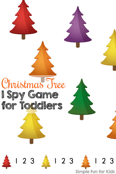 simplified printable christmas tree i spy game for