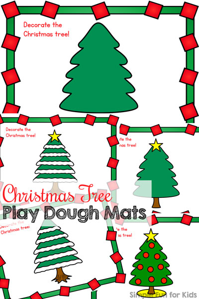 Day 19: Christmas Tree Play Dough Mats