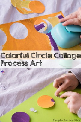Colorful Circles Collage Process Art