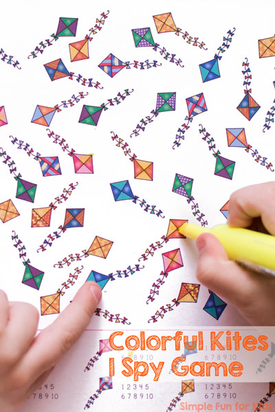 Colorful Kites I Spy Game