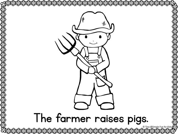 Free Printables for Kids: Read, write, and color with these cute Community Helpers Emergent Reader Coloring Pages! Perfect for preschoolers and kindergarteners.
