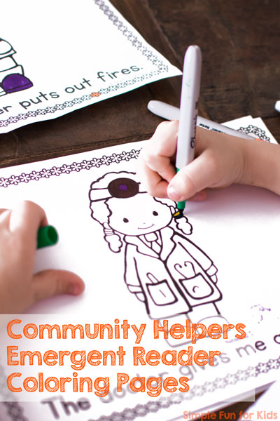 free printables for kids read write and color with these cute community helpers - Coloring Pages Kindergarteners