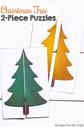 Day 13: Christmas Tree 2-Piece Puzzles