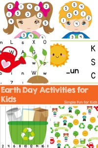Check out these fun, simple, printable Earth Day activities at Simple Fun for Kids! Hand-on learning for preschoolers and kindergarteners.