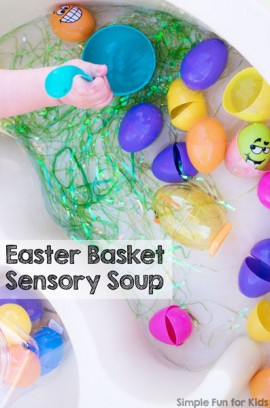 Easter Basket Sensory Soup
