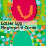 Check out these cute, simple Easter egg fingerprint cards! The process is really fun, leaves a lot of room for creativity, and is great for kids of all ages! Includes a printable template.