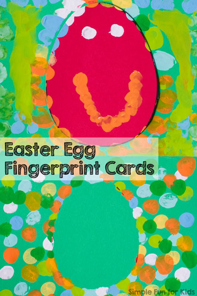 image relating to Printable Fingerprint Cards called Easter Egg Fingerprint Playing cards - Basic Entertaining for Little ones