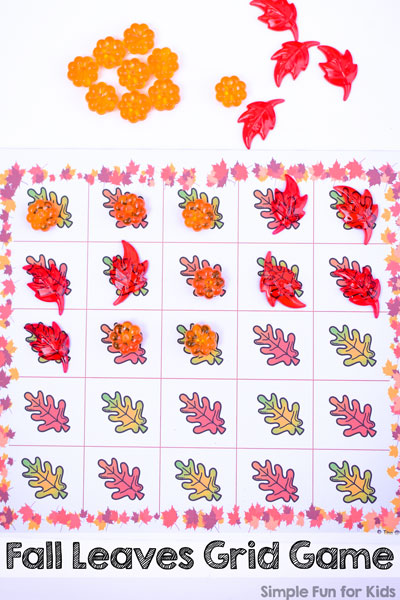 Fall Leaves Grid Game