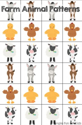 Farm Animal Patterns Printable