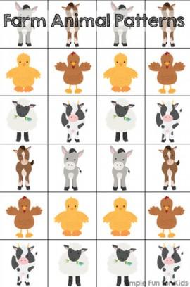 Farm Animal Patterns Printable