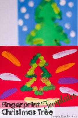 Fingerprint Christmas Tree Templates