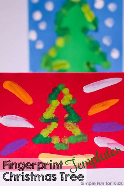 photograph about Christmas Tree Pattern Printable named Fingerprint Xmas Tree Templates - Uncomplicated Exciting for Little ones