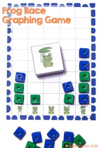 Graphing games are such a great way of learning and reviewing basic math concepts! Give this Frog Race Graphing Game a try with your preschooler or kindergartener!