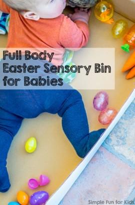 Full Body Easter Sensory Bin for Babies