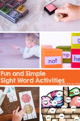 Fun and Simple Sight Word Activities for Kids