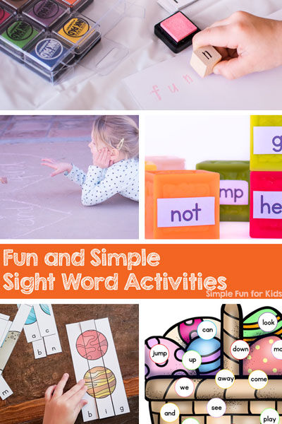 Are your kids starting to read? Having a hard time learning their sight words? Try these fun and simple sight word activities to make it more interesting and engaging! Perfect for kindergarteners, elementary students, and anyone just learning to read.