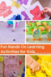 If you're looking for fun, hands-on learning activities for young kids of all ages, this is the place for you! Learn letters, numbers, addition, sight words, colors, subtraction, and more with 100+ different activities for toddlers, preschoolers, and kindergarteners!