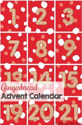 Day 1: Gingerbread Advent Calendar