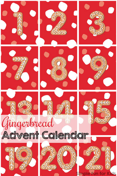 photo about Advent Calendar Numbers Printable known as Working day 1: Gingerbread Arrival Calendar - Easy Enjoyment for Little ones