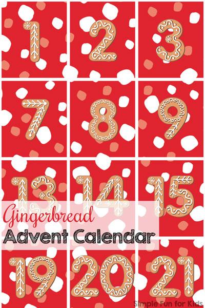 day 1 gingerbread advent calendar simple fun for kids. Black Bedroom Furniture Sets. Home Design Ideas