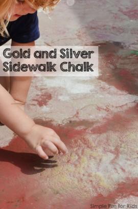 Gold and Silver Sidewalk Chalk