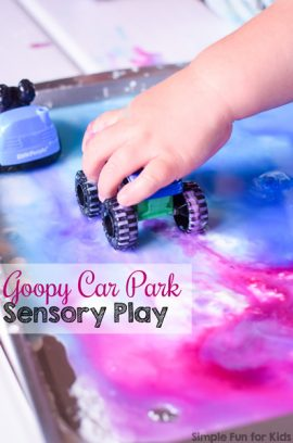Goopy Car Park Sensory Play