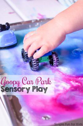 Goopy Car Park Sensory Play