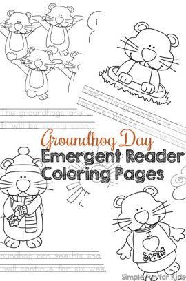 Groundhog Day Emergent Reader Coloring Pages