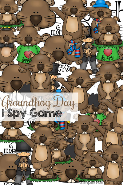 Groundhog Day is kind of quirky, but really just a fun holiday to talk about. Play this printable Groundhog I Spy Game with your toddler or kindergartener as a conversation starter, to practice counting, 1:1 correspondence, number recognition, and more! Practice math without even noticing.