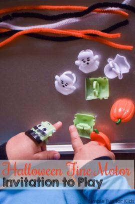 Halloween Fine Motor Invitation to Play