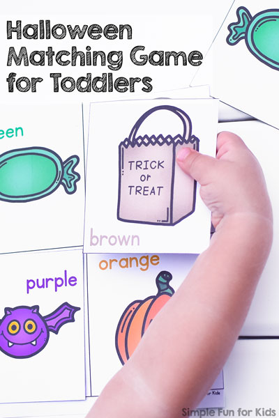 Halloween Matching Game for Toddlers