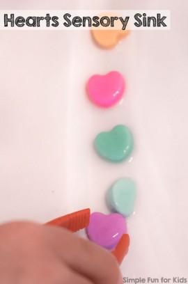 Hearts Sensory Sink