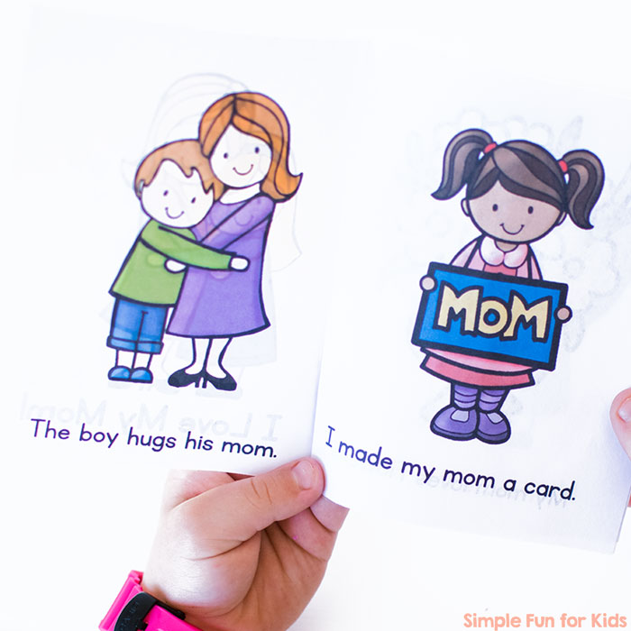 Whether for Mother's Day or any other day of the year, kindergarteners will get a kick out of reading this printable I Love My Mom! Emergent Reader out loud to their moms! Includes fun images and simple words.