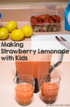 Making Strawberry Lemonade with Kids