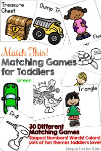 all of the matching games for toddlers you could ever want matching numbers words - Color Games For Toddlers