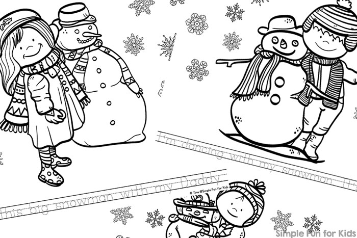 Practice reading and have fun coloring at the same time with these cute printable My Snowman and Me Emergent Reader Coloring Pages! Perfect for kindergarteners or preschoolers who are just starting to read.