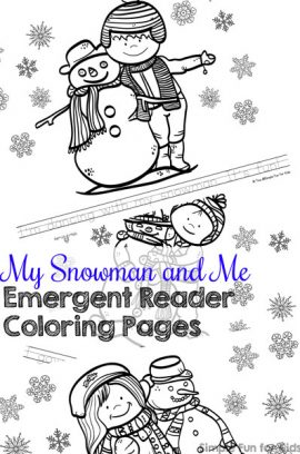 My Snowman and Me Emergent Reader Coloring Pages