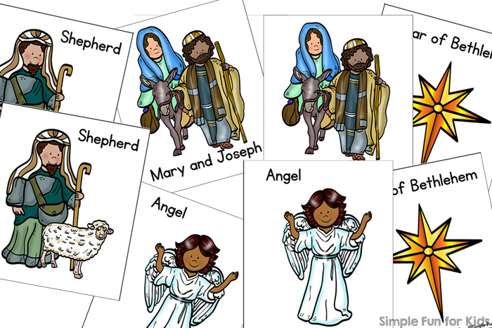 Learn about the original Christmas story and build vocabulary with this simple Nativity Matching Game for Toddler! (Day 23 of 24 Days of Christmas Printables for Toddlers.)