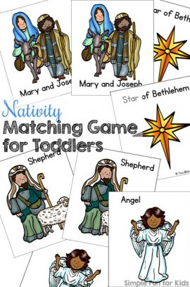 Day 23: Nativity Matching Game for Toddlers