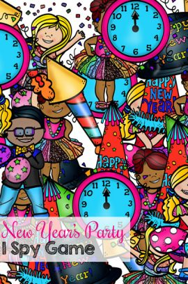 New Year's Party I Spy Game