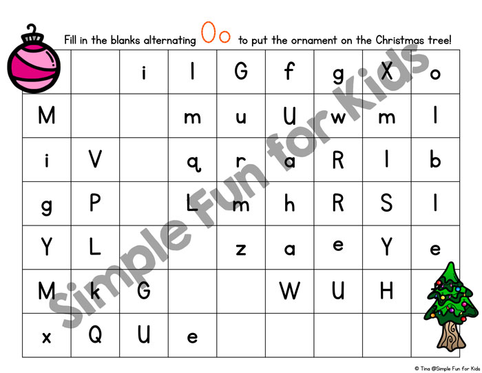 Practice handwriting with a Christmas theme and two different levels of difficulty with these cute printable O is for Ornament Handwriting Letter Mazes! Great to use with Kindergarteners and older preschoolers in December!