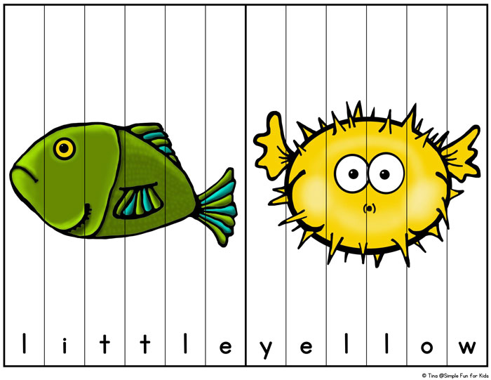 Have fun learning sight words with this hands-on printable: Ocean Creatures Sight Word Puzzles are perfect for kindergarteners learning their pre-primer sight words!