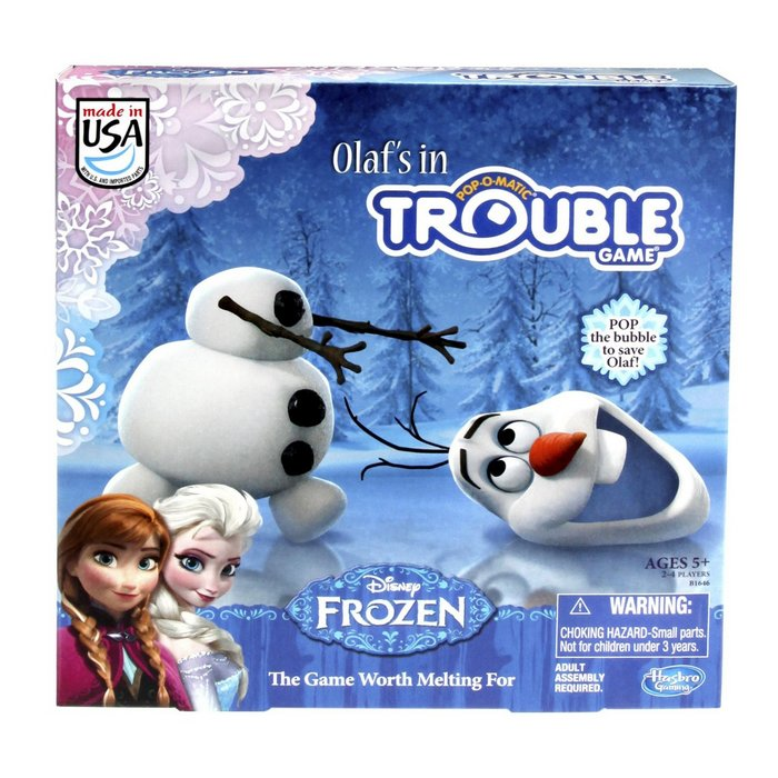 Olaf's in Trouble is my kindergarteners absolute favorite game! It's easy to play and great fun for little FROZEN fans. It's also quite tolerable for parents to play it over and over ;)