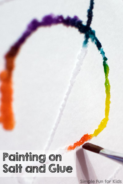 Art and Science for Kids: Watercolor Painting on Salt and Glue - so pretty!