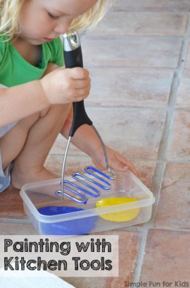 Painting with Kitchen Tools